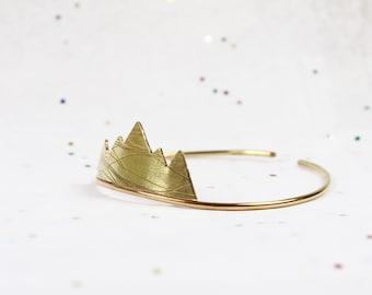 Mountain Bracelet - Brass Bracelet - Cuff Bracelet