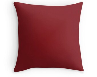 Burgundy Red Pillow, Burgundy Throw Pillow, Burgundy Decorative Pillow, Burgundy Pillow, Burgundy Toss Pillow, Burgundy Bedding, Burgundy