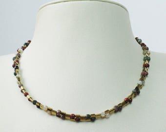 Jewelry necklace beads natural semi precious handmade hand ROMA