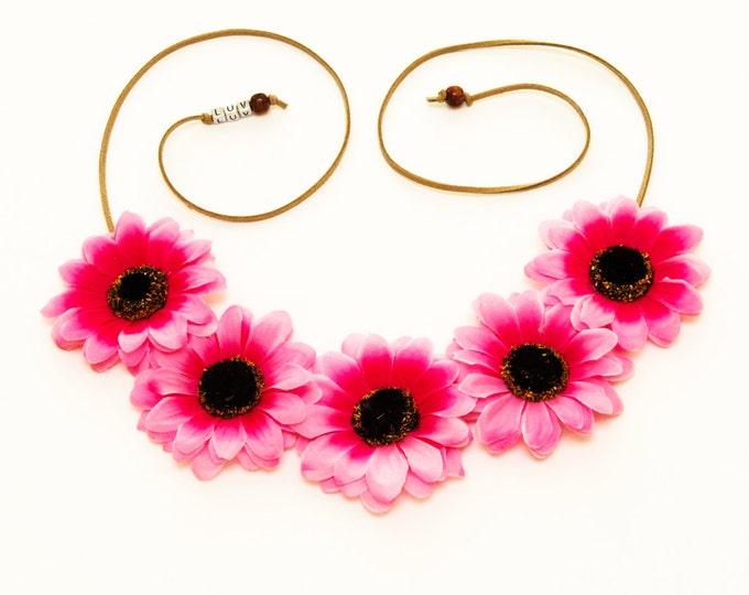 Pink Daisy Flower Crown