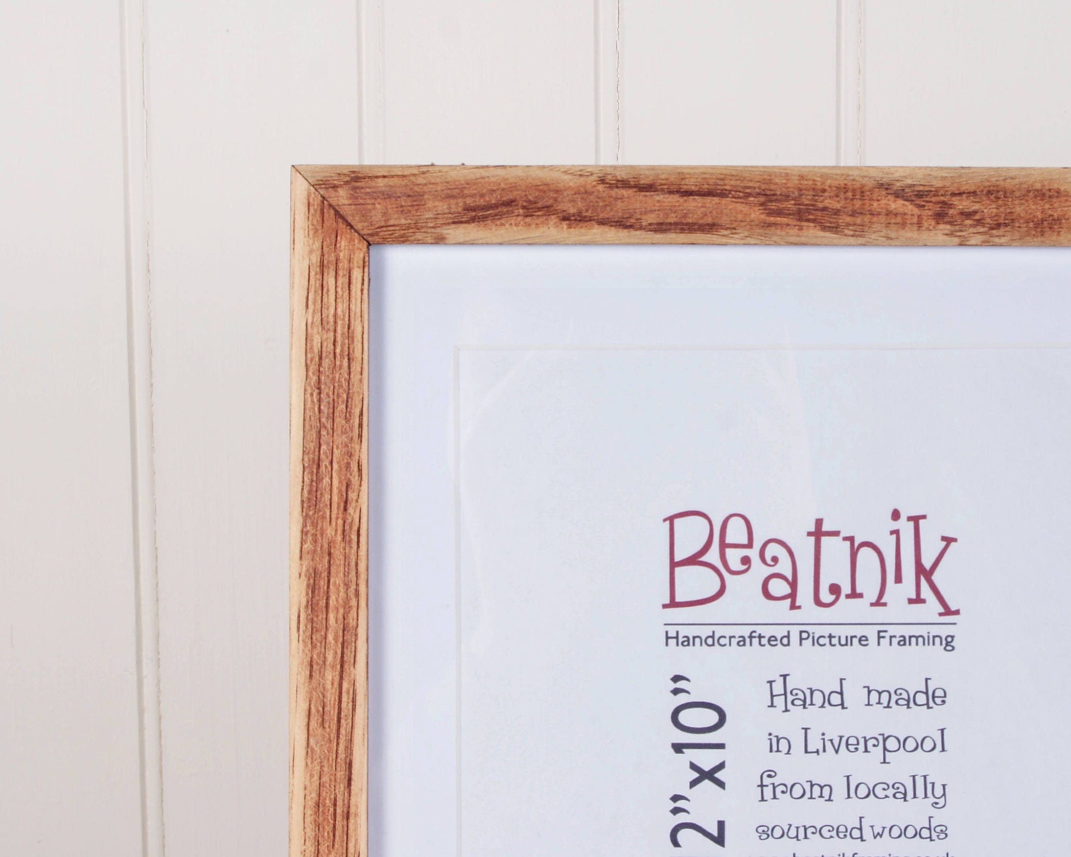 Oak picture frame // 14x11 // 11x14 // Handmade from real wood ...