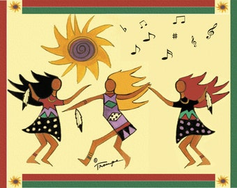 GODDESS DANCE Greeting Card By Connie Troupe Free Ship USA