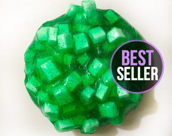 SCENTED Watermelon Patch Jelly Cube Slime - Jelly Slime - Clear Slime - Crunchy Slime