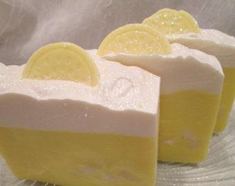 Lemon Sugar Soap Handmade Cold Process
