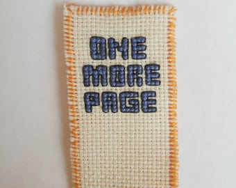 one more page Bookmark cross stitch