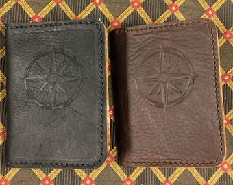 Leather passport wallet RFID blocking