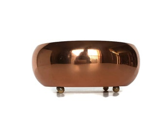 Copper decorative bowl vintage electroplated metal potpourri dish