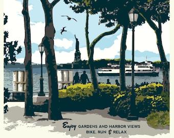 Battery Park Vintage Poster