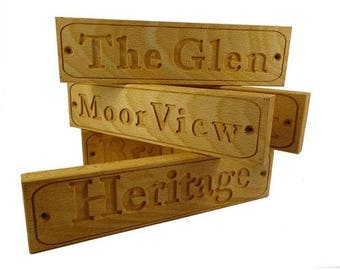 Personalised Carving with YOUR choice of WORDS Sign Wall Plaque Outdoors or Indoors