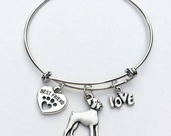 Boxer Best Friend Charm Bracelet