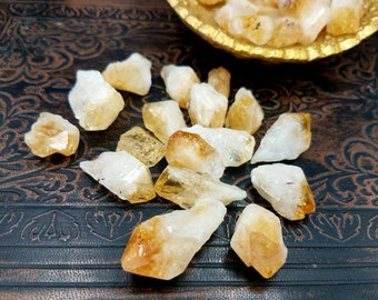 6pc Small Rough Citrine Crystal Points
