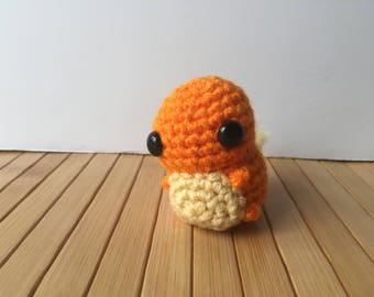 Ditzy Pokemon Starters - Charmander Pokemon Amigurumi - Cute Charmander Doll