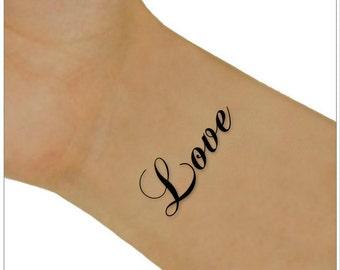 Temporary Tattoo 2 Love Wrist Tattoos