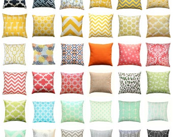 CLEARANCE Throw Pillow Covers, Decorative Pillows, Cheap Pillow Cases, 16x16 Zippered Pillow Sham, Couch Pillows, Toss Pillow, Bedding SALE