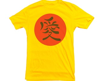 Kanji camiseta japonesa símbolo de japonés escritura