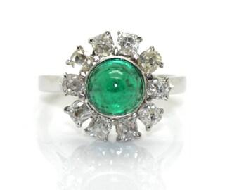 Ring Emerald Margarita, circa 1910