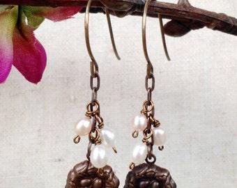 Nest and Egg Earrings