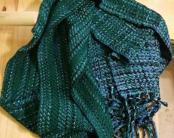 Forest Green Stripe Scarf