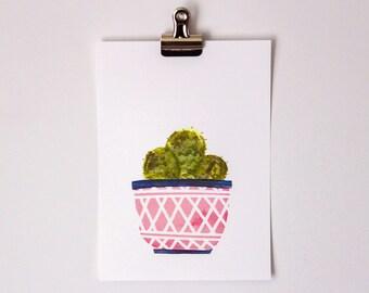 Cactus Bunch 5x7 print