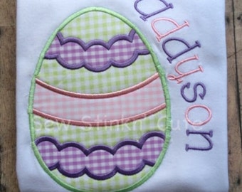 Personalized Machine Embroidered/Appliqued Easter Egg Shirt