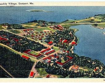 Vintage Maine Postcard - Quoddy Village, Eastport (Unused)