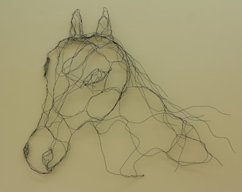 Horse head wire drawing