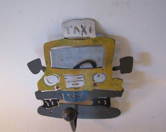 New York City Vintage Metal Taxi Wall Hook
