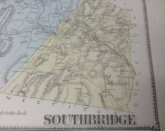 Southbridge ma map Etsy