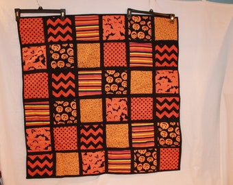 Handmade Halloween Lap Quilt or wallhanging