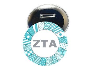 Zeta Tau Alpha Button -Letters