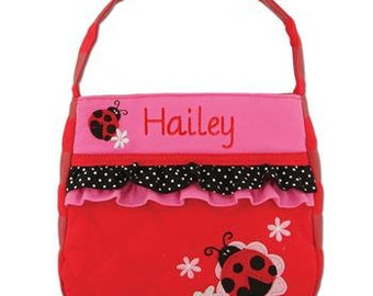 Personalized Toddler Girl Ladybug Purse, Birthday Gift, Girl's Monogrammed Ladybug Purse
