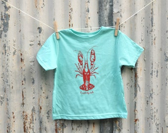 Crawfish Kids Tee Shirt,  New Orleans , Louisiana, Kids clothing, Toddler Tee, Southern Fashion, Screen Printed, Holiday Gift