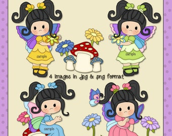 Butterfly Girls Black Hair