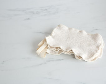 NEW!  100% Organic Cotton Sherpa Washcloth Mitt
