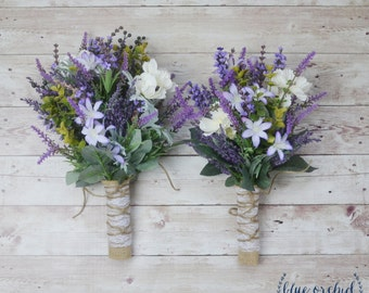 Wildflower Bouquet, Wedding Flowers, Bridesmaid Bouquet, Wildflower Bridesmaid Bouquet, Lavender Bouquet, Rustic, Boho Wedding, Boho Flowers