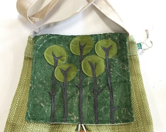Forest Green Trees Messenger Bag