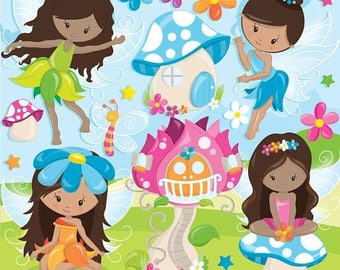 80% OFF SALE fairy clipart commercial use, fairies vector graphics, fairytale digital clip art, digital images  - CL944