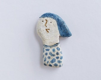 Breezy and clay brooch