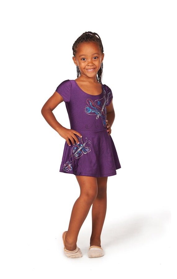 Bodysuit púrpura Leotardo de gimnasia para niñas los niños
