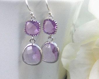 Violet,Lavender Earrings,Alexandrite Earring,Purple Earring,June Birthstone,Birthstone,Silver Earrings,Sterling Silver,Purple Bridemaid,Brid
