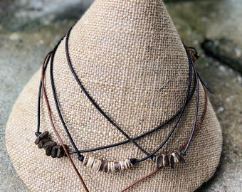 Coconut shell diffuser necklace
