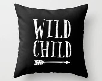 Wild child Pillow, Kids pillow, modern decor, spotty pillow, kids decor, kids gift, scandinavian decor, throw pillow, nursery decor