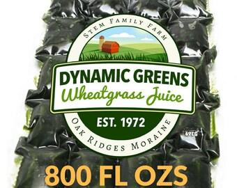 Wheatgrass Juice | 800 Fluid Ozs | 1.25 Per Shot | Field Grown | Unpasteurized | Since 1972