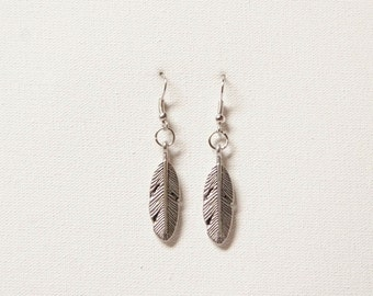 Plume, feather earrings