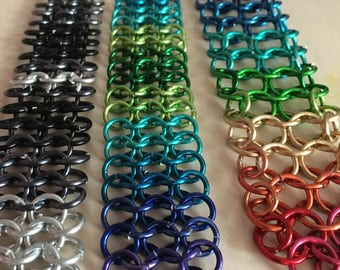 Large Ring Ombre Chain Maille Bracelets