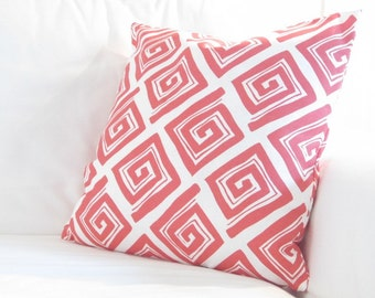Coral Pillow Cover, Coral Pillows,Kid Bedding, Decorative Pillows,Coral Pillow Covers, 20in Pillow Covers, Cushion Cover, couch Pillow
