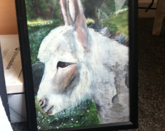 "Derbyshire Donkey ""Joey""  Acrylics and Oil Pastels"