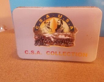 C.S.A U.S.A. Battle of Gettysberg collection Tin