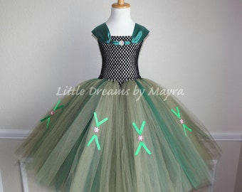Princess Anna coronation dress inspired from Frozen movie  size nb to 12years