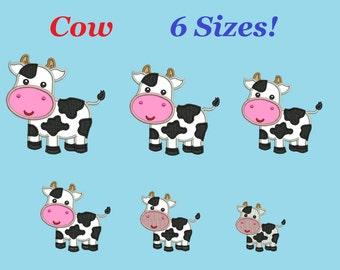 Cow embroidery designs aplique Little Cow design embroidery machine